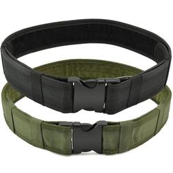 Tactical Belt - Mens Quick Release Military Nylon Belt with
