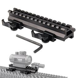 Tactical Picatinny Riser Mount Rails Dual 90 and 45 degree Q