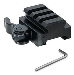 JahyShow Tactical Low Profile Riser Mount Quick Release Red
