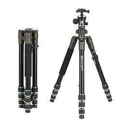 BONFOTO 671A Travel Aluminum Camera Tripod, Lightweight with