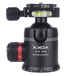 AOKA tripod ball head 360 degree fluid rotation panoramic al