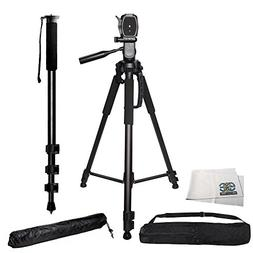"Professional 72"" Tripod & Deluxe Carrying Case + 72"" Heavy D"