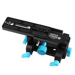 Foto4easy Tripod Mount 15mm Rod Support QR Base Plate DSLR H