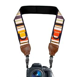 Camera Strap with Vintage Striped Neoprene , Quick Release C
