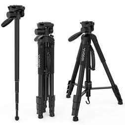 Andoer TTT-666R Camera Tripod Monopod Travel Portable Lightw