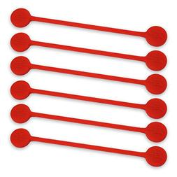 TwistieMag Strong Magnetic Twist Ties - The Lady In Red Coll