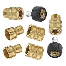 Mingle Ultimate Pressure Washer Adapter Set, Quick Disconnec