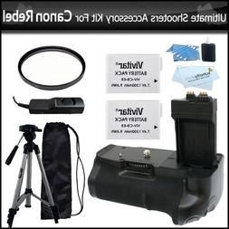 Ultimate Shooters Accessory Bundle Kit For Canon EOS Rebel T