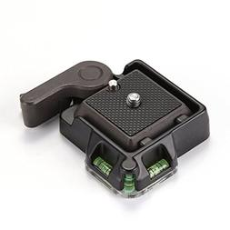 FocusFoto Universal QR Quick Release Clamp Adapter & Plate w