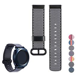 Feskio Universal 20mm Quick Release Woven Nylon Watch Band,