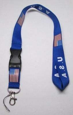 USA with Flag Quick Release LANYARD KEY
