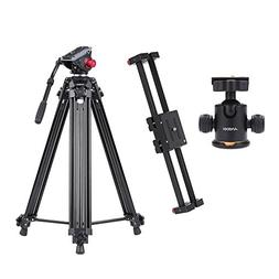 Andoer V2-500 Track Dolly Slider Video Stabilizer 50cm Rail
