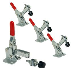 XrPaowa 4 Pcs Vertical Hand Tool Quick-Release Toggle Clamp