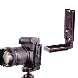Vertical Shoot Quick Release L Plate Bracket Stand for Canon