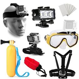 Water Sports Adventure Kit w/Diving Mask + Underwater LED Li