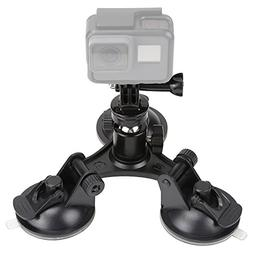 TEKCAM Waterproof Action Camera Suction Cup Mount Car Windsh