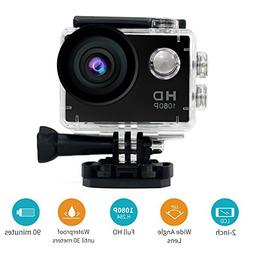 30M Waterproof Sport DV-Mini Sports 1080P HD Action Camera A