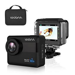 Action Camera, Andoer 4K WiFi 2.31 inch Full HD LCD Touchscr
