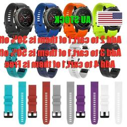Wrist Strap Watch band Silicone Quick Release For Garmin Fen