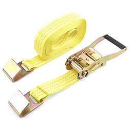 "Domeiki 2"" x 27' ft Ratchet Tie Down with Flat Hook Cargo St"
