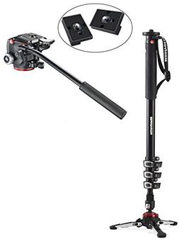 Manfrotto XPRO Four-Section Aluminum Monopod with Two-Way He