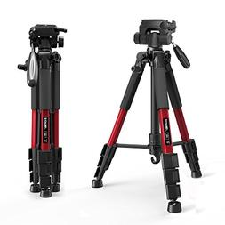 ZOMEI Z666RED Camera Compact Travel Tripod with Pan Head and